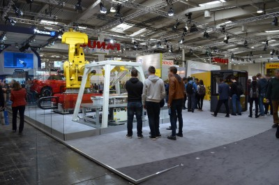 Company stand Fanuc Robotics Deutschland GmbH on trade show HANNOVER MESSE 2017