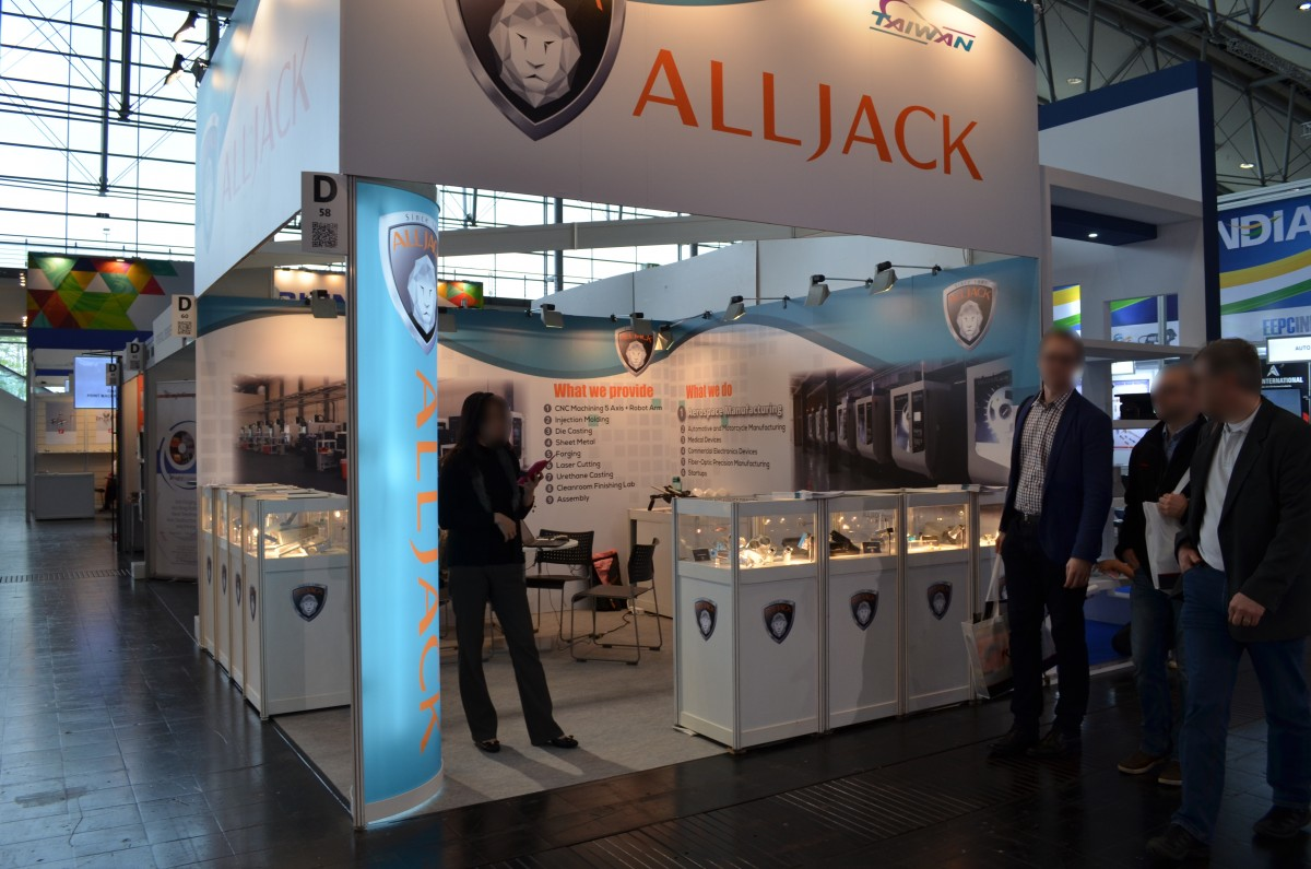 Company stand ALLJACK Technologies, Inc. on trade show HANNOVER MESSE 2017