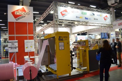 Company stand FAS Converting Machinery AB on trade show PLASTPOL 2017