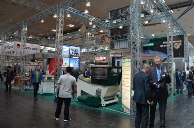 Company stand Schuko H. Schulte-Südhoff GmbH on trade show LIGNA PLUS HANNOVER 2017