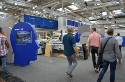 Company stand BÜRKLE ROBERT GmbH on trade show LIGNA PLUS HANNOVER 2017