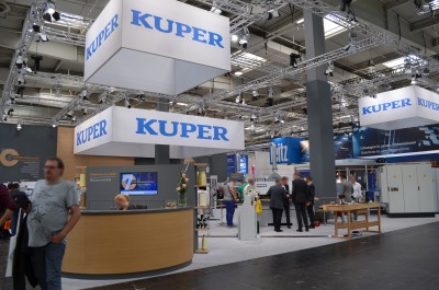 Company stand KUPER HEINRICH GmbH & Co.KG on trade show LIGNA PLUS HANNOVER 2017