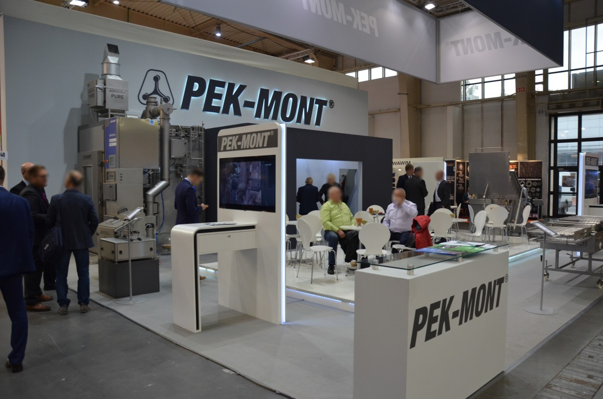 Company stand PEK-MONT Sp. z o.o. on trade show POLAGRA-TECH 2017