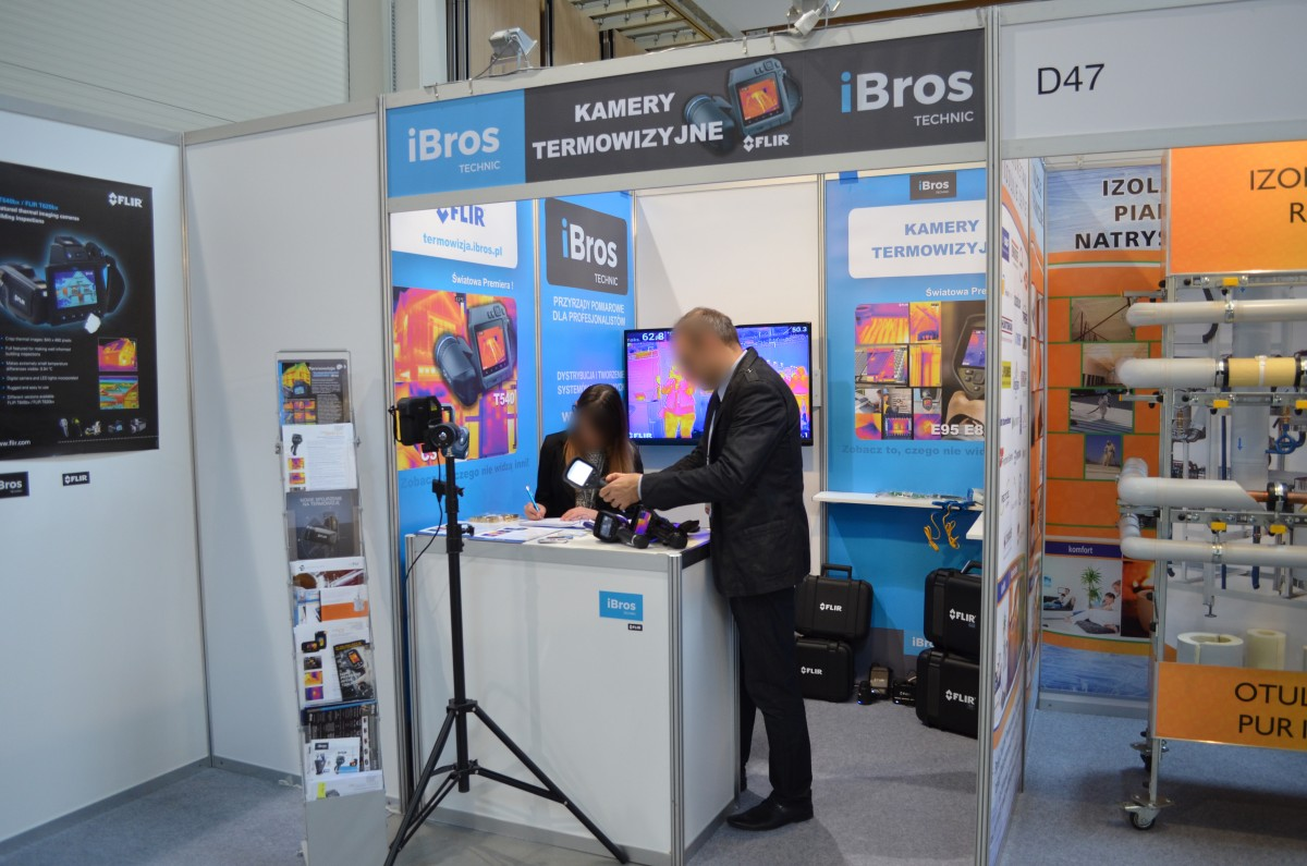 Company stand LINC POLSKA Sp. z o.o. (FLIR Systems) on trade show 4INSULATION &  EFE 2017