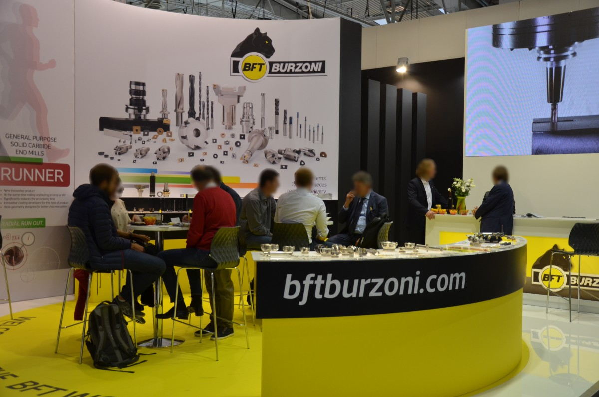 Company stand BFT BURZONI SRL on trade show EMO HANNOVER 2017