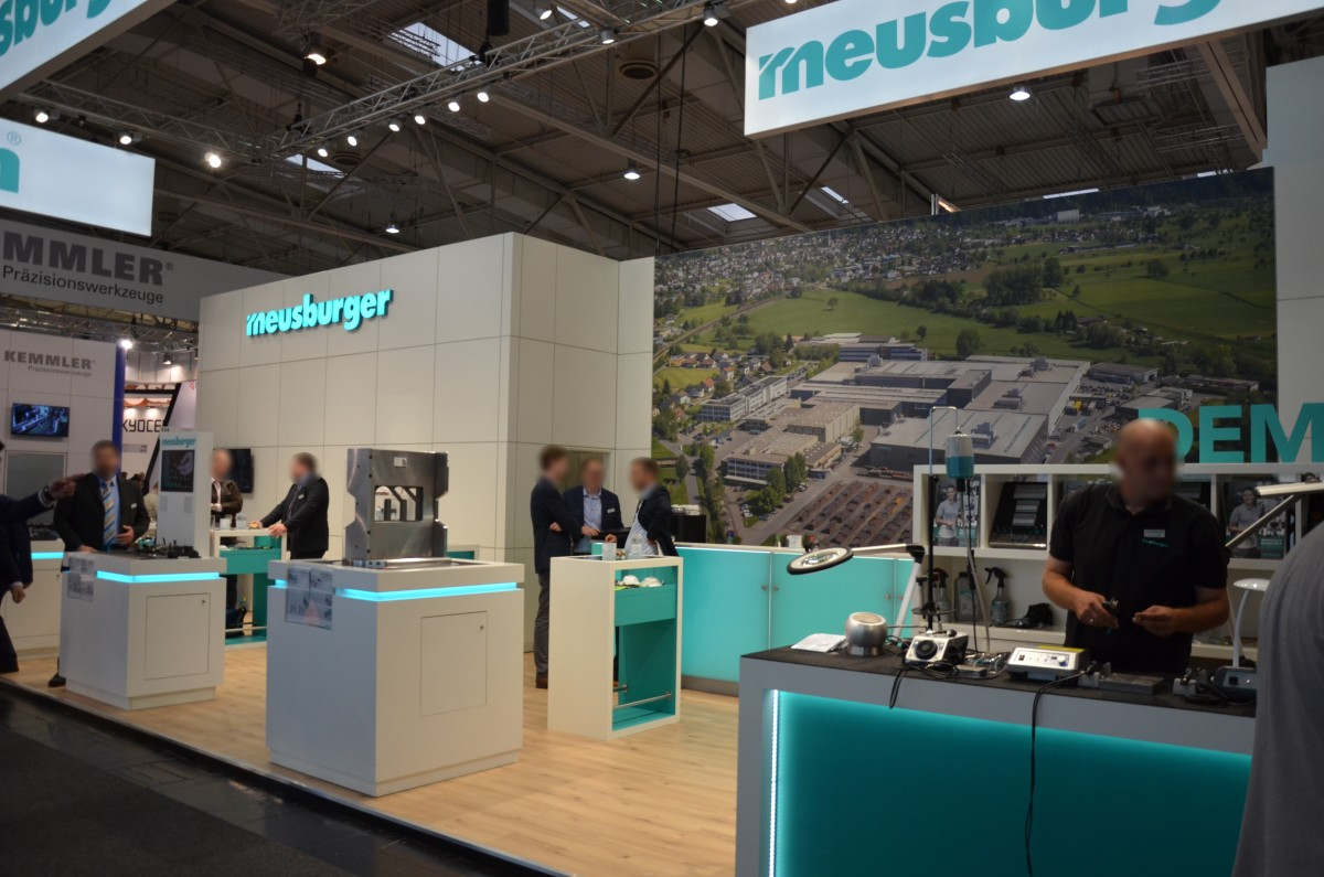Company stand MEUSBURGER GEORG GmbH & Co KG Standard moulds on trade show EMO HANNOVER 2017
