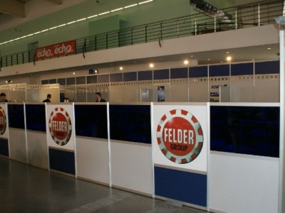 Company stand FELDER Group Polska Sp. z o.o. on trade show DREMA 2011