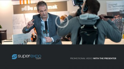 Produkt, Promotional video with the presenter z firmy Superexpo LLC