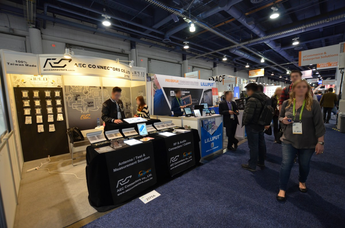 Company stand AEC Connectors Co., Ltd. on trade show INTERNATIONAL CES 2018