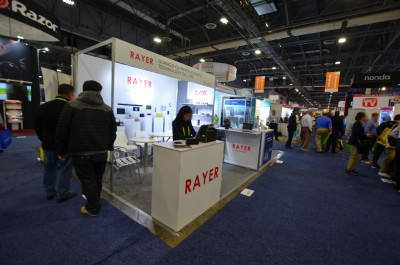 Company stand Guangzhou Rayer Acoustic Technology Co., Ltd. on trade show INTERNATIONAL CES 2018