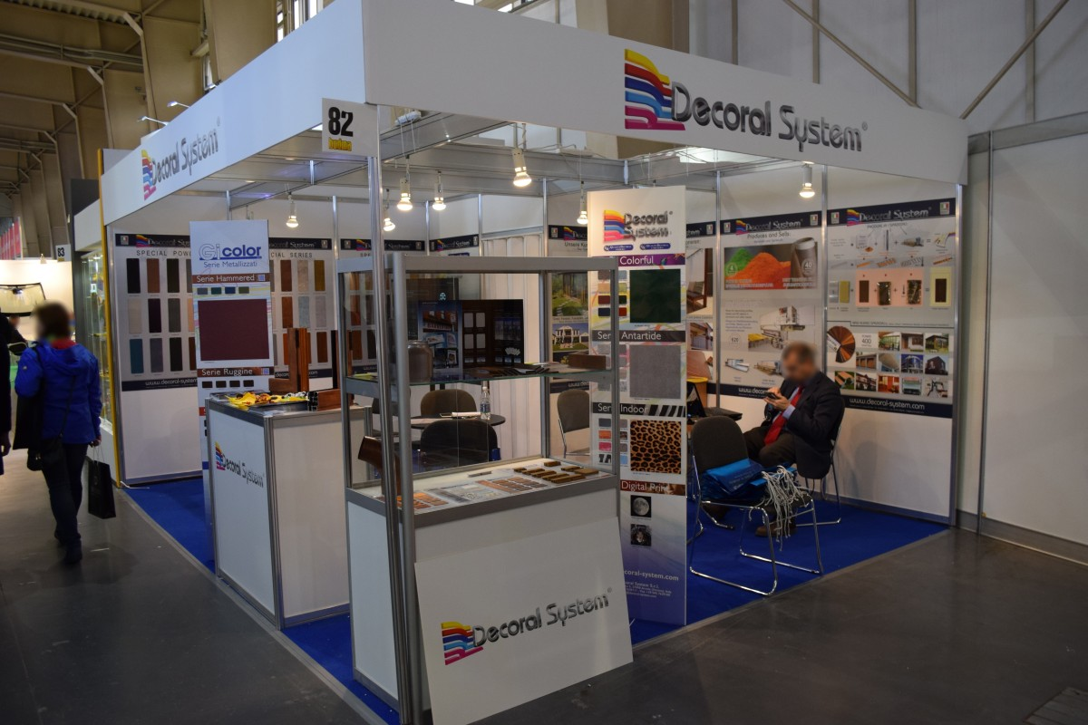 Company stand DECORAL SYSTEM s.r.l. - DECORATION PLANT on trade show BUDMA 2018