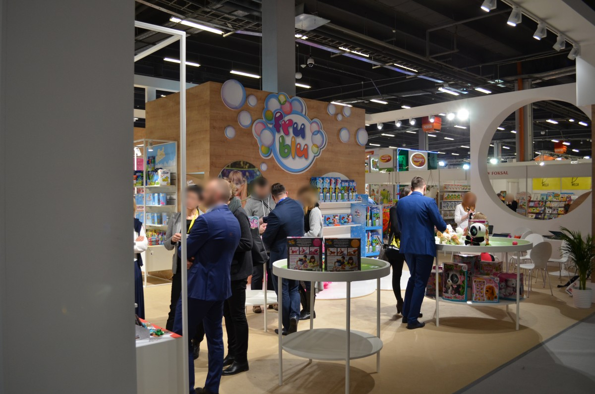 Company stand TM Toys on trade show KIDS' TIME 2018