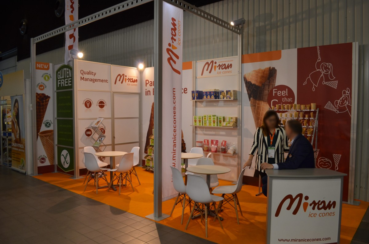Company stand Miran Wafel Sp. z o.o. on trade show ExpoSWEET 2018