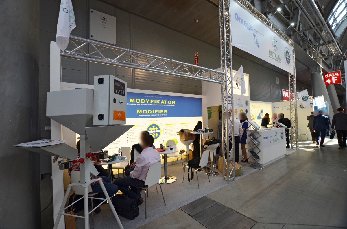 Company stand EKOGRANULAT on trade show PLASTPOL 2018