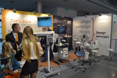 Company stand SELIGA MICROSCOPES Sp. z o.o. on trade show SALMED 2014