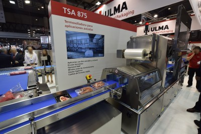 Company stand Ulma Packaging S Coop on trade show HISPACK 2018