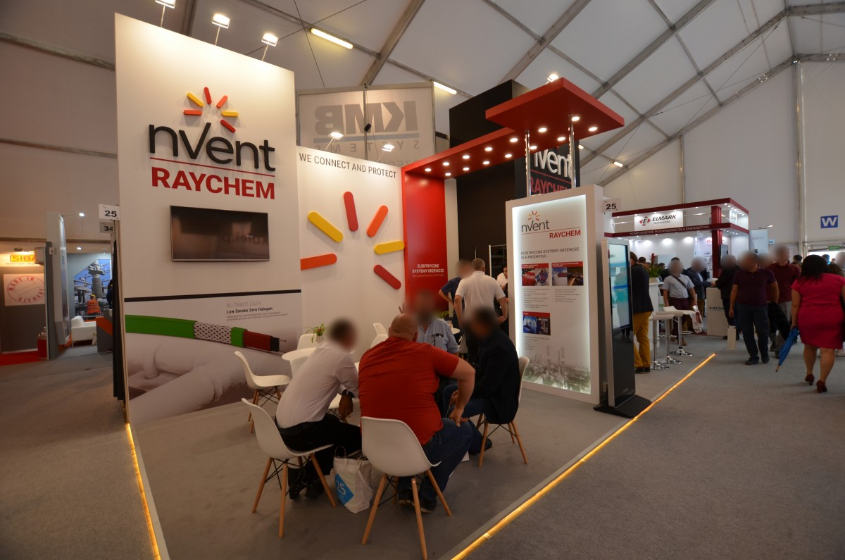 Company stand nVent Thermal Polska Sp. z o.o. on trade show ENERGETAB 2018