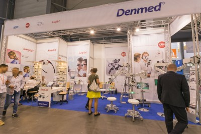 Company stand DENMED on trade show CEDE 2018