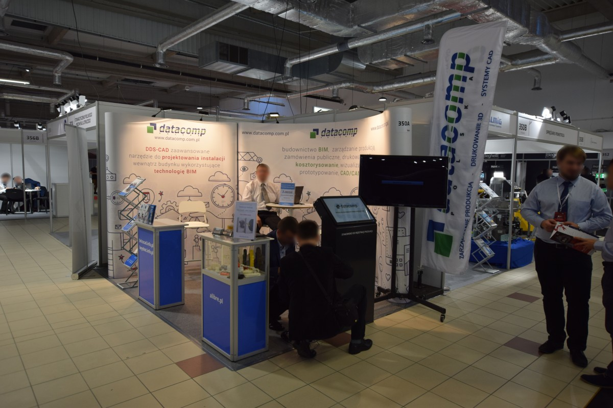 Company stand DATACOMP Sp. z o.o. on trade show WARSAW INDUSTRY WEEK 2018