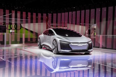 Company stand Audi of America Inc. on trade show INTERNATIONAL CES 2019
