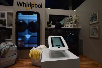 Company stand Whirlpool Corporation on trade show INTERNATIONAL CES 2019