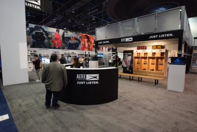 Company stand Altec Lansing on trade show INTERNATIONAL CES 2019