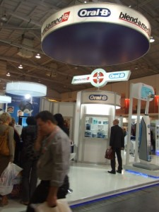 Company stand ORAL-B Instytut Blend-a-med on trade show CEDE 2011