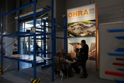 Company stand OHRA Regalanlagen GmbH on trade show BUDMA 2014