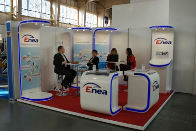 Company stand ENEA Operator Sp. z o.o. on trade show BUDMA 2014