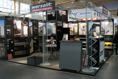 Company stand WERZALIT GmbH + Co. KG on trade show BUDMA 2014