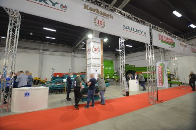 Company stand SULKY - BUREL on trade show AGROTECH & LAS-EXPO 2019