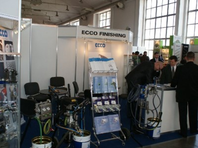 Company stand ECCO FINISHING POLSKA Sp. z o.o. on trade show DREMA 2011