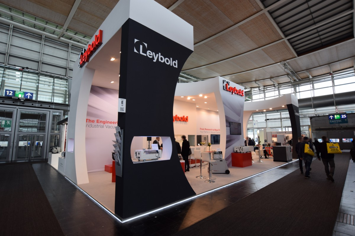 Company stand Leybold GmbH on trade show HANNOVER MESSE 2019