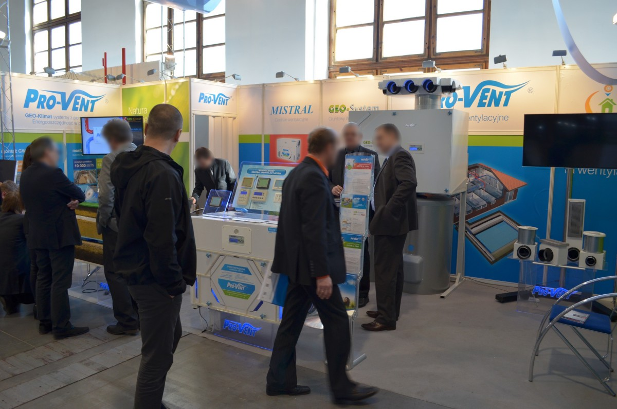 Company stand PRO-VENT Systemy Wentylacyjne on trade show BUDMA 2014