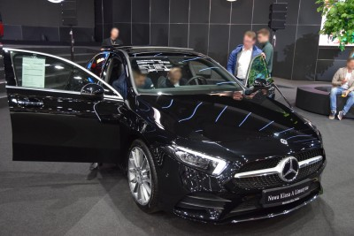 Company stand MercedesCars on trade show MOTOR SHOW 2019