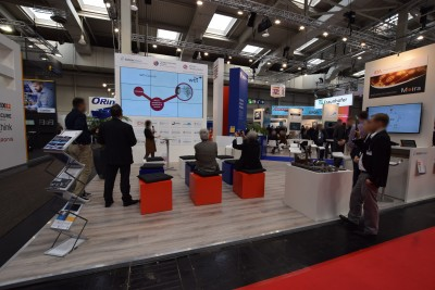 Company stand HESSEN TRADE & INVEST GmbH on trade show HANNOVER MESSE 2019