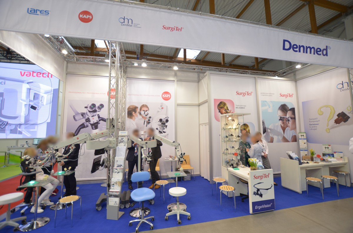 Company stand DENMED on trade show KRAKDENT 2019