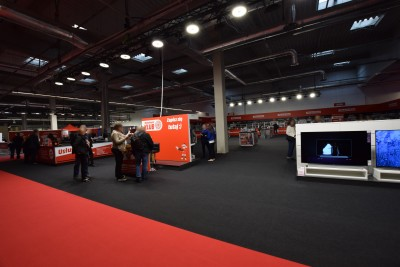 Company stand Media Markt on trade show Electronics Show 2019