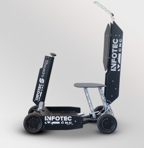 Electric mobile foldable vehicle