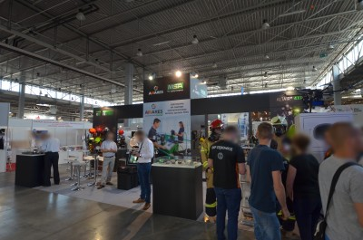 Company stand AWARES Sp. z o.o. on trade show KIELCE IFRE-EXPO & WORK SAFETY-EXPO 2019