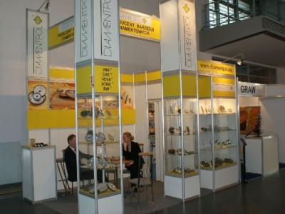 Company stand DIAMENTPOL Sp.j. on trade show DREMA 2011