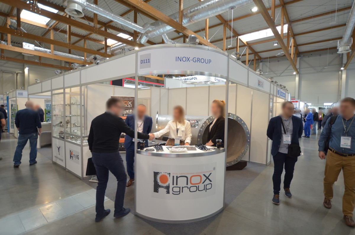 Company stand Inox Group on trade show Fastener Poland 2019