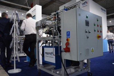 Company stand BOSCH REXROTH Sp. z o.o. on trade show WARSAW INDUSTRY WEEK 2019