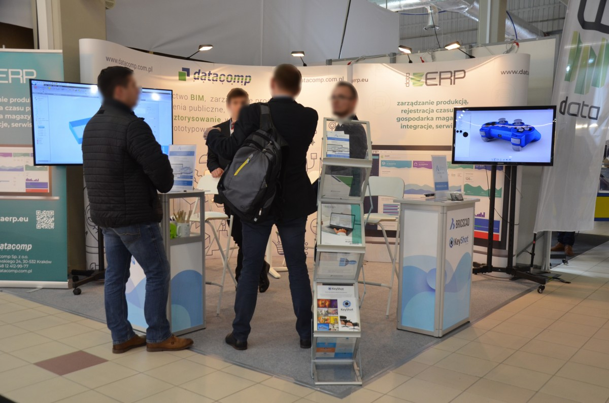 Company stand DATACOMP Sp. z o.o. on trade show WARSAW INDUSTRY WEEK 2019