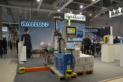 Company stand BALLUFF on trade show WARSAW INDUSTRY WEEK 2019