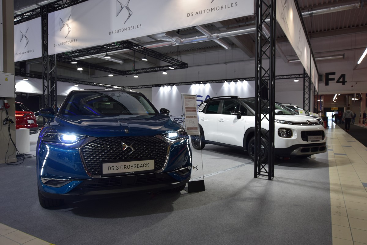 Company stand PSA Group on trade show Warsaw Motor Show 2019