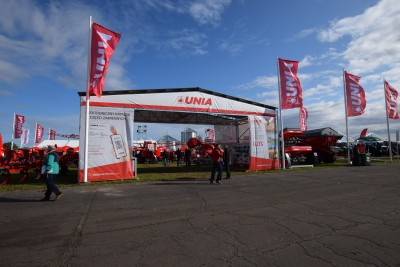 Company stand UNIA Sp. z o.o. on trade show AGROSHOW 2019