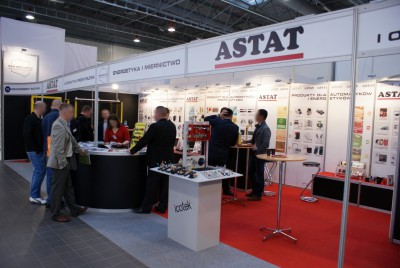 Company stand ASTAT Sp. z o.o. on trade show AUTOMATICON WARSZAWA 2014