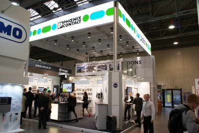 Company stand PHOENIX CONTACT Sp. z o.o. on trade show AUTOMATICON WARSZAWA 2014