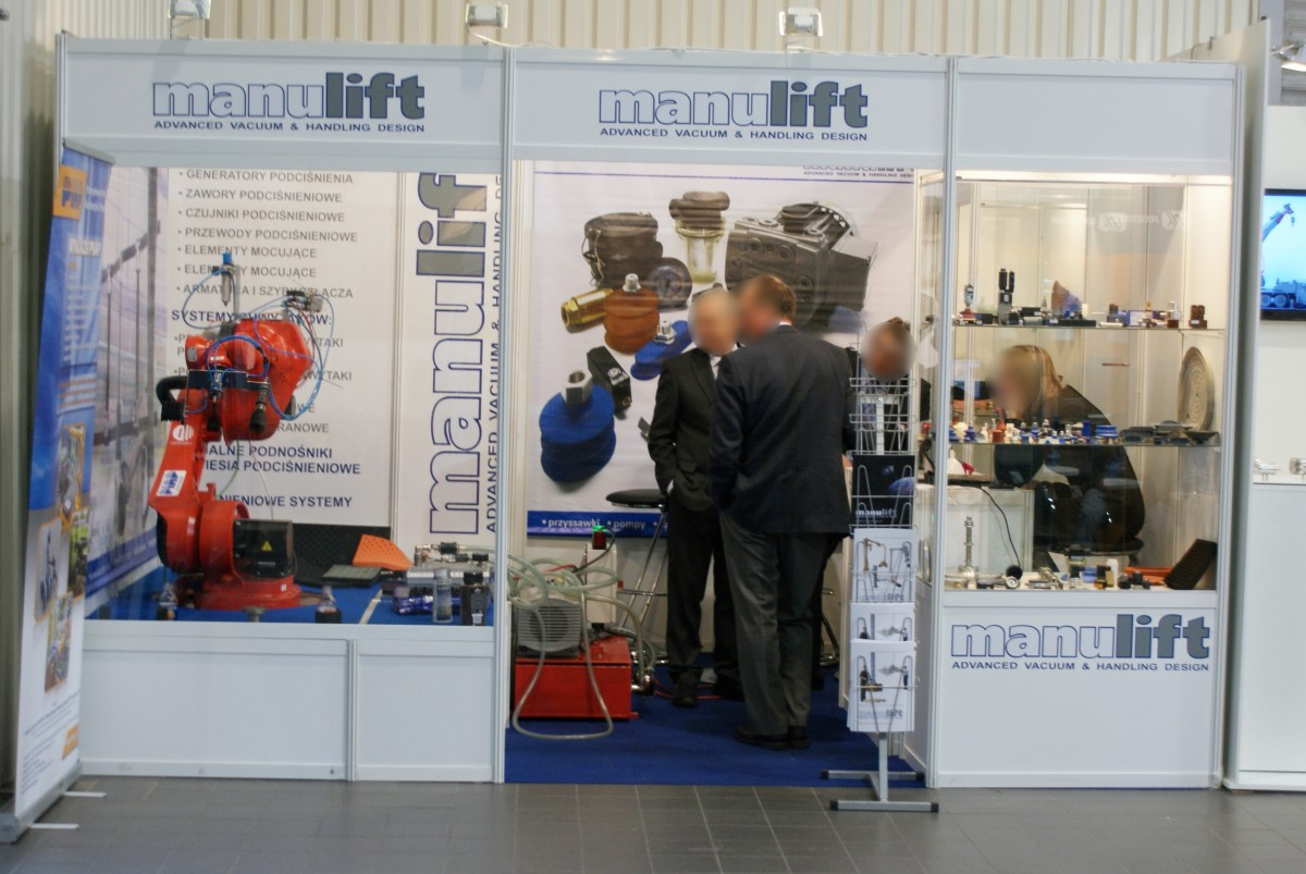 Company stand Manulift Sp. z o.o. on trade show AUTOMATICON WARSZAWA 2014